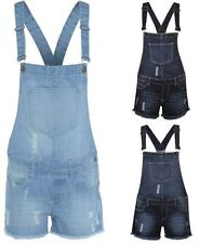 Womens Ladies Shorts Stretch Denim Jeans Girls Jumpsuit Playsuit Monika Dungaree