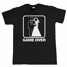 Game Over Wedding Mens Funny Stag Do T Shirt