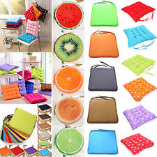 Cushion Seat Back Pad Indoor Home Kitchen Sofa Chair Bench Tie On - Round/Square