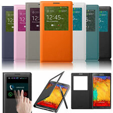 Leather Front S View Window Flip Cover Folio Case For Samsung Galaxy Note 3 III