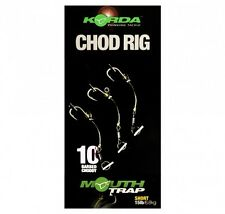 3 x KORDA READY TIED CHOD RIGS SHORT LENGTH, BARBED / BARBLESS CARP FISHING