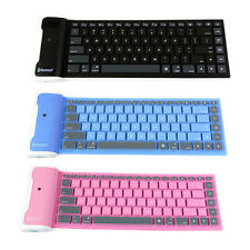 For PC Laptop Mac Waterproof Bluetooth Wireless Keyboard Silicone Soft Flexible