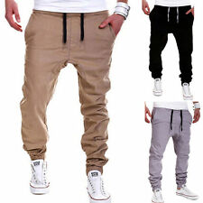 Mens Long Pants Loose Slim Fit Baggy Workout Casual Tracksuit Cotton Trousers