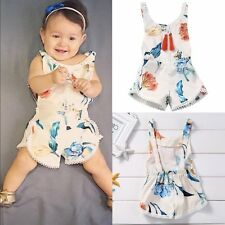 Infant Toddler Baby Kid Girls Floral Cotton Romper Jumpsuit One-Piece Clothes