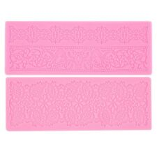 Lace Silicone Fondant Embossing Mold Cake Gum Paste Decorating DIY Mould VE