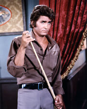 Michael Landon Color Photo Poster or Photo Holding Pool Cue Bonanza