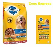 Healthy Dry Dog Food PEDIGREE 50 -100 -150 Pounds Adult Chicken Vegetable Flavor