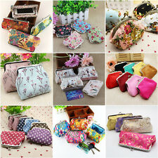 Retro Women Girls Small Wallet Change Coin Purse Hasp Clutch Card Holder Handbag