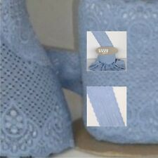 Bluebell Paisley Design Lace Trimming TLC8 BL Free P&P
