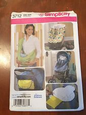 Simplicity pattern 3712 Baby Accessories bunting, sling, changing pad