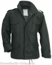 SURPLUS M65 FIELD JACKET WITH QUILTED LINER MENS MILITARY ARMY COMBAT COAT BLACK