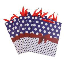 5pcs Love Wave Dot Paper Party Gift Bags Holiday Shopping Bags 32 x 26 x12cm