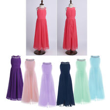 Kid Girls Flower Chiffon Party Prom Princess Pageant Wedding Fancy Wedding Dress