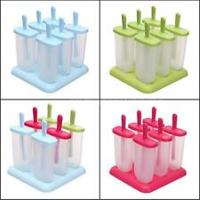6 Push Up Frozen Ice Cream Mould Popsicle Maker Lolly Tray Pan Pop Mold Hot S6H0