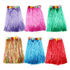 Hawaiian Dress Skirt Hula Grass Skirt With Flower Accessories Lady Costume LE