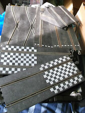 Scalextric track start line and chicane pieces vintage job lot