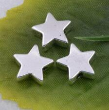Wholesale Tibetan Antique silver little star charms beads jewelry 10x3mm  #5574