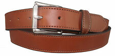 "BROWN MONEY BELT English Bridle Leather Concealed 16"" Zipper Pouch USA HANDMADE"