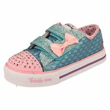 Girls Skechers Twinkle Toes Flashing Trainers - Sweet Step