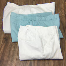 Pants Capris Womens Size 6 18w White Seafoam Daisy Fuentes JH Coll Alfred Dunner