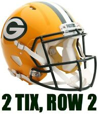 2 TIX CLEVELAND BROWNS VS GREEN BAY PACKERS ~ ROW 2