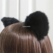 Cute Cosplay Party Headband Orecchiette Cat Fox Long Fur Ears Anime FV8801