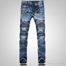 Jeans Mens Sosoo Size 33/32 34/33 36/34 Distressed Motorcycle