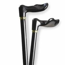 Alex Orthopedic Wood Cane with Palm Grip right or left Handle – Black