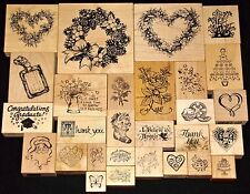 PSX Rubber Stamps Assorted Themes Thank you Flowers Hearts to Christmas U PICK