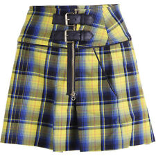 NWT JUICY COUTURE Black Label Starlet A-Line Yellow Plaid Mini Skirt 6 12 $178