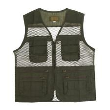 Men Multi Pocket Outdoor Fishing Hunting Mesh Vest Jacket Photo Zipper Waistcoat