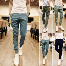 Mens Fashion Casual Slim Fit Skinny Harem Trousers Men Slacks Sport Pants XS-XL