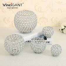 Crystal Candle Holders Votive Hurricane Tea Light Holders Glass Candlesticks