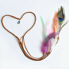 Women Waterdrop Pendant Feather Headband Hairband Party Headpieces New Fashion