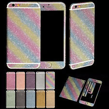 Diamond Glitter Bling Back&Front Sticker Decal Cover Case For iPhone 6/6 Plus