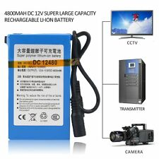 4800MAH DC 12V Super Large Capacity Rechargeable Li-ion Battery For Camera SW