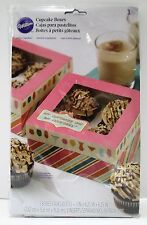 "Wilton ""Cupcakes are My Cocktails"" Treat Boxes: 3 Cupcake Boxes Per Pkg: Holds 4"