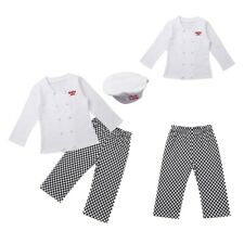 Baby Infant Cook Chef Carnival Outfit Top Shirt Pants Hat Boy Girl Party Clothes