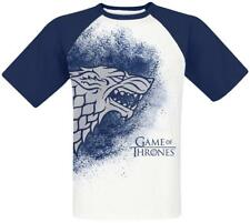 Game of Thrones House Stark - Painted Raglan T-Shirt white-blue