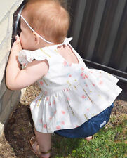 0-24M Baby Girls Dress Cute Flying Sleeve Floral Infant Print Hollow Heart Skirt
