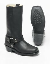 Womens Spirit Leather Motorcycle Boots  Harness Square toe