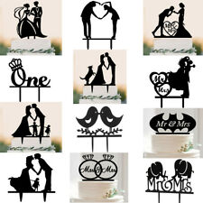 Acrylic Wedding Engagement Anniversary Party Cake Topper Picks Decoration