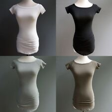 James Perse Standard Cinch Rushed Body Con Tee Shirt Top Color Options $95 sz 0