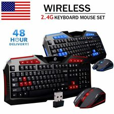 Gaming wireless 2.4G keyboard and Mouse Set to computer Multimedia Gamer New TO