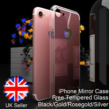 Hot Soft Mirror Slim Case Ultra Thin Fit +Tempered Glass Cover For iPhone 7 Plus