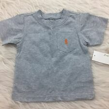 GreenDog Infant/Toddler Heather Gray Pocket T-Shirt  NWT *Pick Your Size* KC2