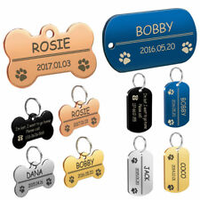 Personalized Dog Tags Military Bone Shapes Custom Pet ID Name Tags Free Engrave