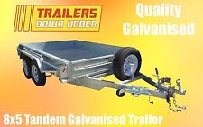 Galvanised 8x5 Heavy Duty Tandem Galvanised Trailers Fully Welded