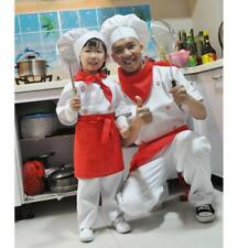 Novelty Cook Chef Cosplay Costume Top Pants Apron Scarf Hat Set Fancy Dress