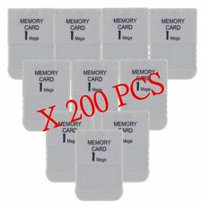 200 LOT 1MB Memory Card For Playstation 1 One PS1 PSX Game 1 MB Fast Shipping US